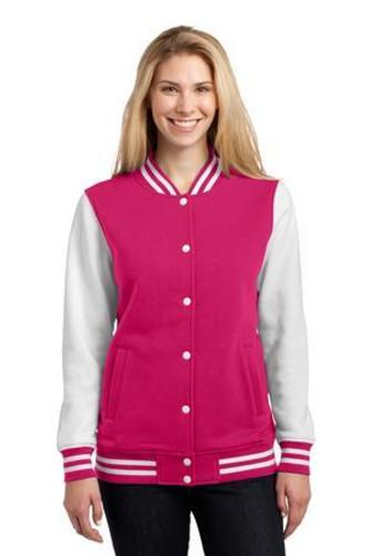 Ladies Fleece Letterman Jacket