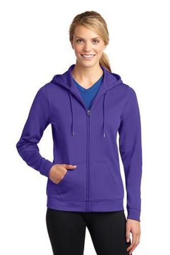 Ladies Sport-Wick Fleece Full-Zip Hooded Jacket