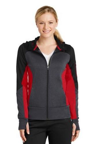 Ladies Tech Fleece Colorblock Full-Zip Hooded Jacket