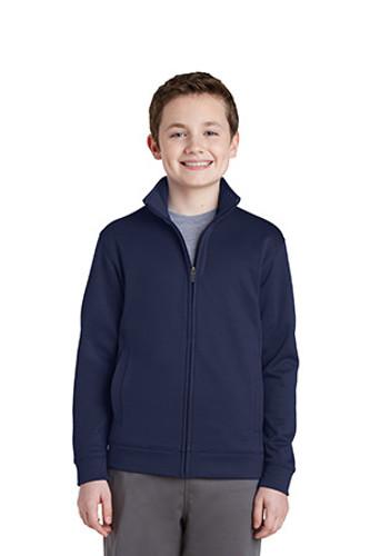 Youth Sport-Wick Fleece Full-Zip Jacket