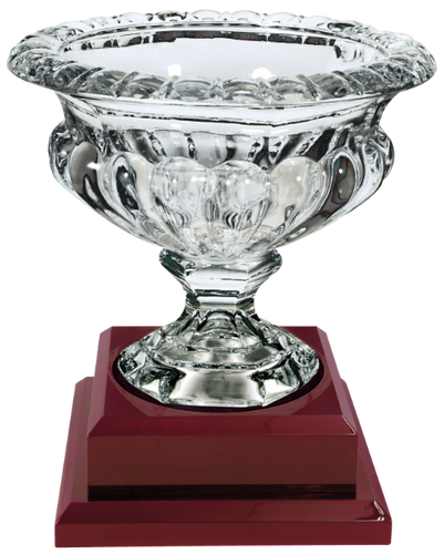 Royal Glass Bowl with Rosewood Finish Base