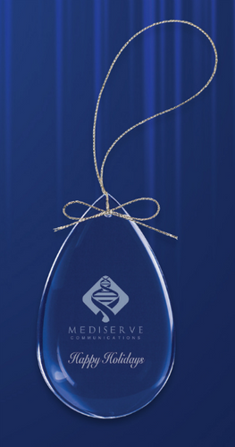 Crystal Teardrop Ornament