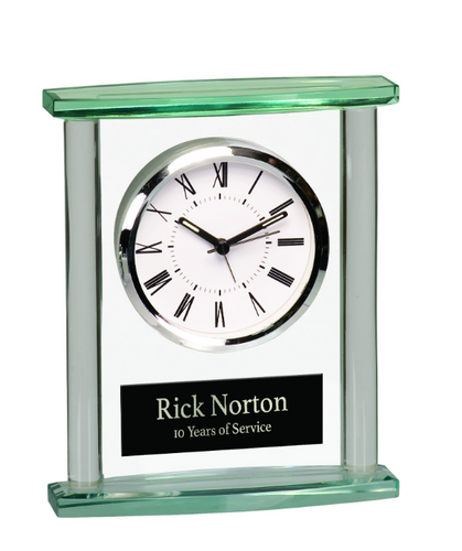 Square Glass Clock with Top