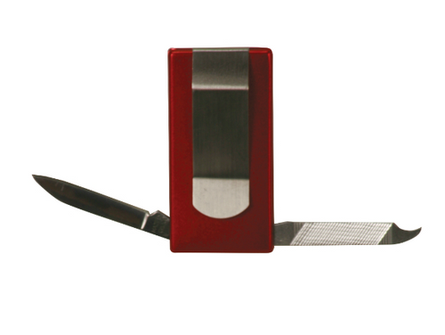 Red 3-Function Money Clip