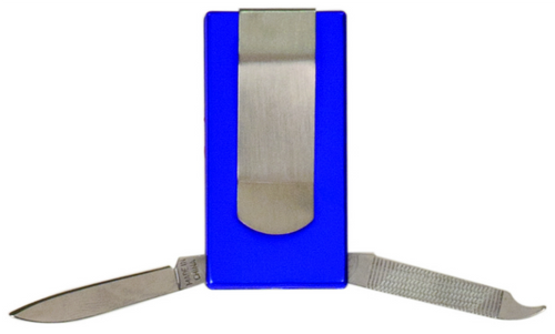 Blue 3-Function Money Clip