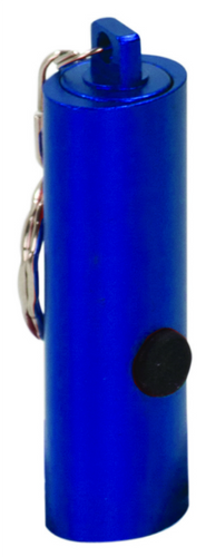 Blue 3-LED Flashlight with Keychain