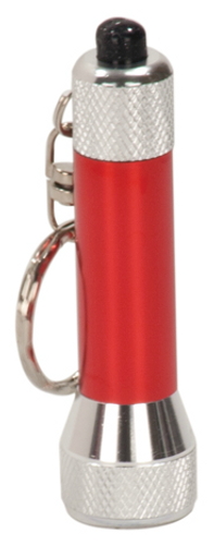 Red 5-LED Flashlight with Keychain