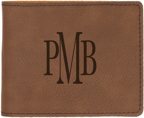 Dark Brown Leatherette Bifold Wallet