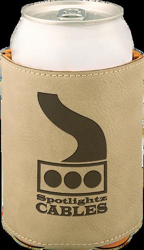 Light Brown Leatherette Beverage Holder