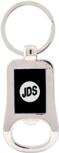 Silver & Black Bottle Opener Keychain