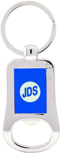 Silver & Blue Bottle Opener Keychain