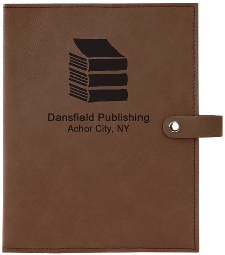 Dark Brown Leatherette Book/Bible Cover with Snap Closure