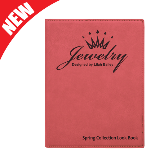 Pink Leatherette Portfolio
