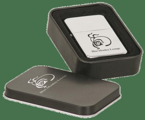 Laserable Chrome Lighter in Black Laserable Tin