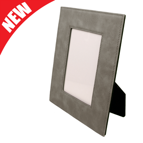 Gray Leatherette Frame