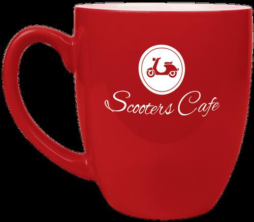 Red Ceramic Bistro Mug