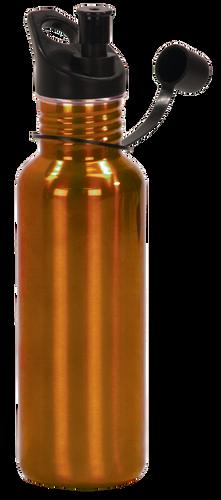 Gloss Orange Stainless Steel Water Bottle
