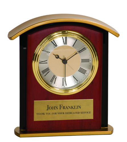 Mahogony Finish Gold Top Clock