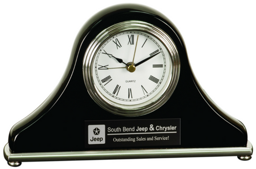 Black Piano Finish Mantel Clock