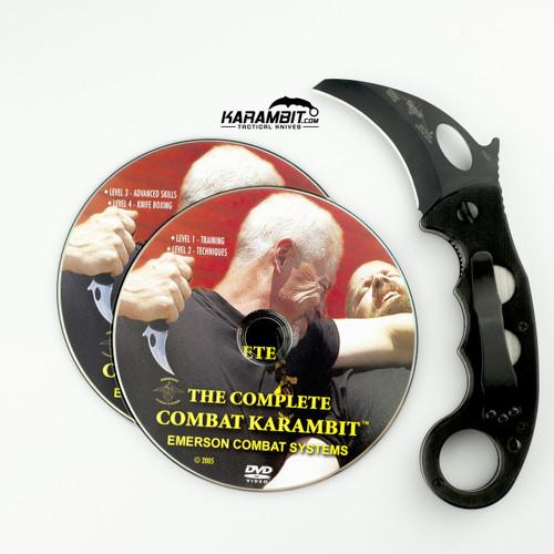 Emerson Black Combat Karambit & DVD Combo