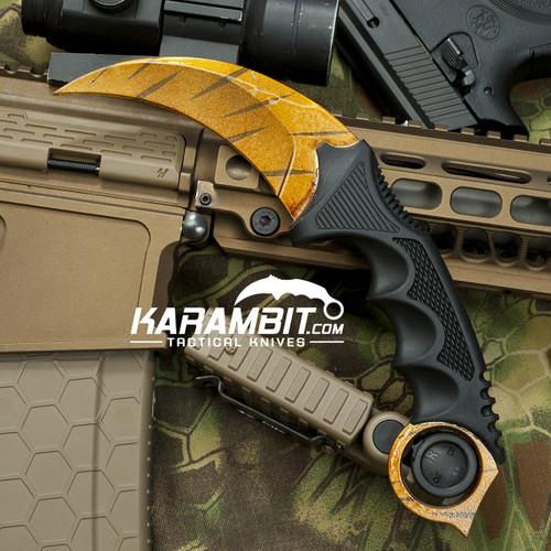 Painted Honshu Tiger Tooth CS GO Karambit