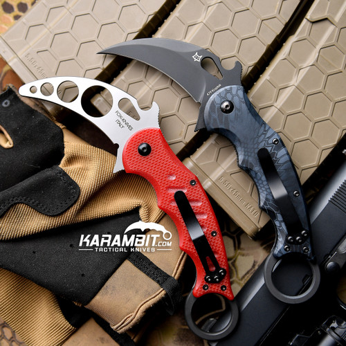 Fox 479 Kryptek Typhon Karambit and Training Karambit