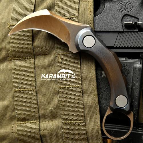 R.S. Knifeworks Titanium Anodized Karambit Peacekeeper