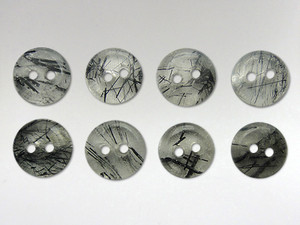 Buttons 10mm - Quartz Tourmalinated
