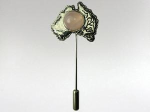 Australia Stickpin Silver - Rose Quartz