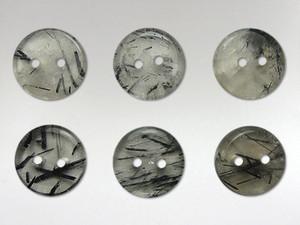 Buttons15mm - Quartz Tourmalinated
