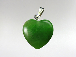 Heart Pendant 15mm - Jade Nephrite
