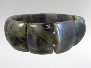 Bracelet Rectangle Bead  - Labradorite