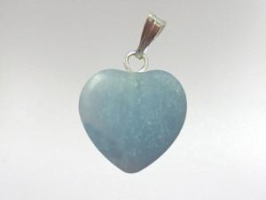 Heart Pendant 15mm - Angelite