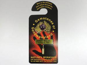 Australia Stickpin Gold - Amethyst