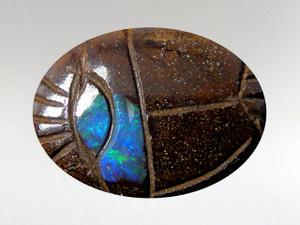 Scarab Cabochon 16x22mm - Boulder Opal
