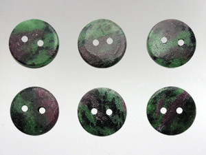 Buttons15mm - Ruby Zoisite