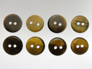 Buttons 10mm - Tiger Eye