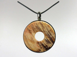 Donut Pendant - Fossil Wood