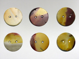 Buttons15mm - Mookite Jasper