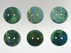 Buttons15mm - Azurite Malachite