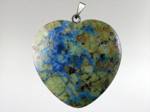 Heart Pendant 30mm - Azurite Malachite 2