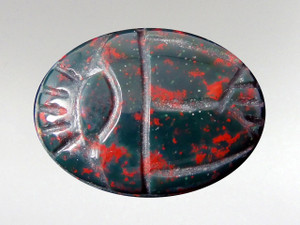 Scarab Cabochon 16x22mm - Bloodstone