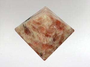 Pyramid Small - Sunstone in Matrix
