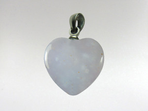 Heart Pendant 15mm - Blue Chalcedony