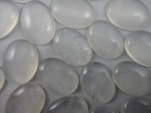 Cabochon 2 Piece 16x22mm - Moon Quartz