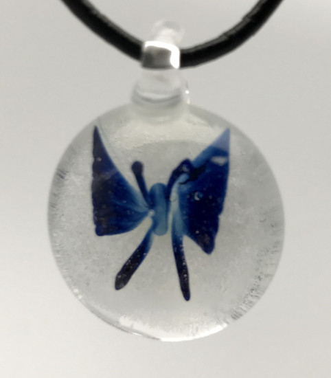 Blue Butterfly Pendant/Glow In The Dark