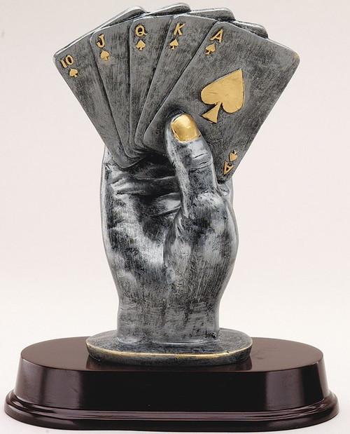 Poker Statue Trophy