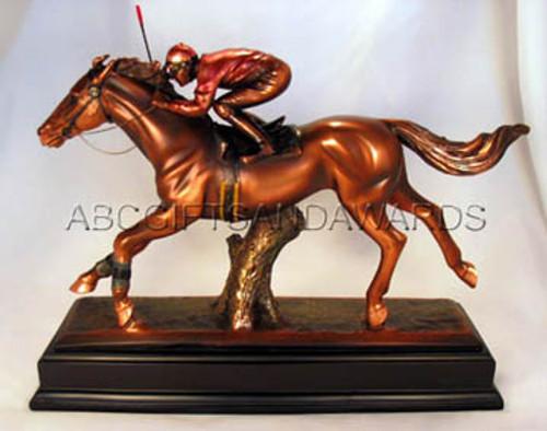 Horse Racing Trophy - Bronze Coated Sculpture