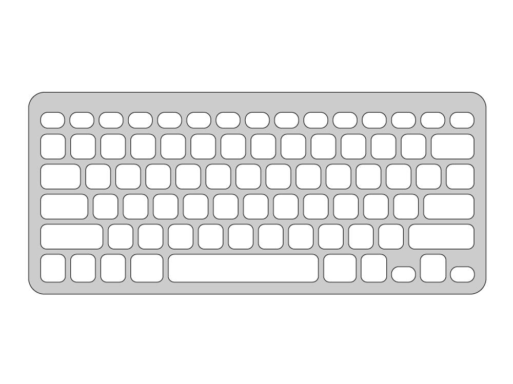Keyguard for Logitech Easy-Switch Keyboard