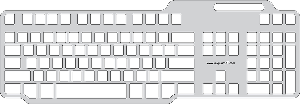 Keyguard for the Dell SK-3205